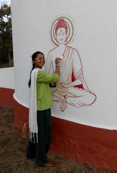 Ashwita from Bangalore painted a beautiful Buddha