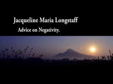 Jacqueline answers a question on negativity.